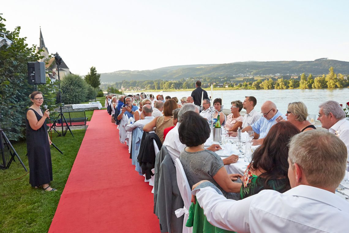 red carpet - dinner next danube - by Babenbergerhof