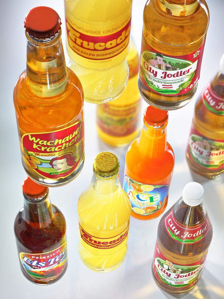 Getränkeflaschen - Tiefenraumaufnahme