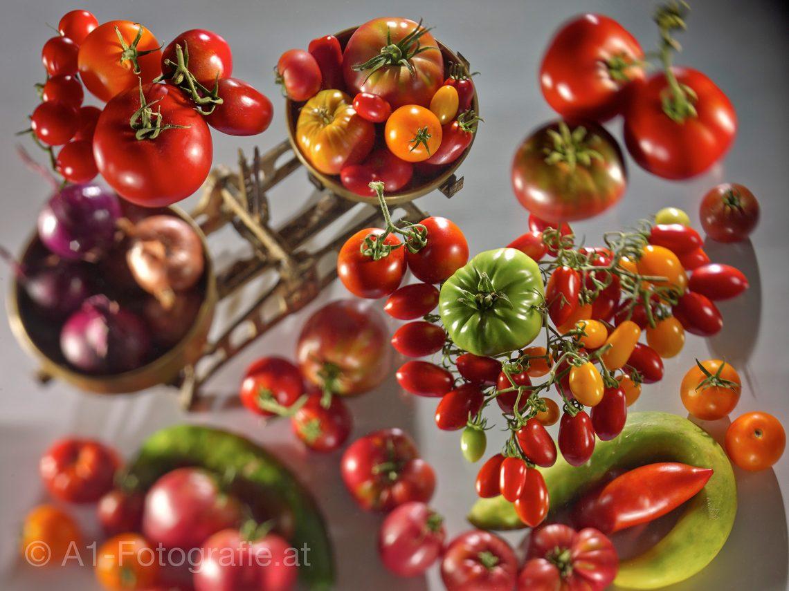 Tiefenraumaufnahme - Tomaten